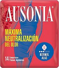 Parfumuri și produse cosmetice Absorbante cu aripioare , 14 buc - Ausonia Normal With Wings Sanitary Towels