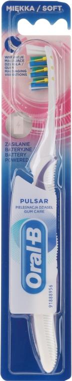 Periuță electrică acumulator, moale, alb-mov - Oral-B Pulsar Sensitive&Gum Care — Imagine N1