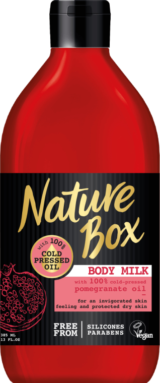 Lăptișor pentru corp - Nature Box Pomegranate Oil Body Milk — Imagine N1