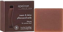 """Parfumuri și produse cosmetice Săpun natural """"Neem și argilă"""" pentru pielea cu probleme - Apeiron Neem & Clay Plant Oil Soap"""