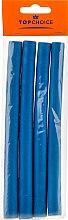 Bigudiuri pentru păr M 4 buc., albastre - Top Choice — Imagine N1