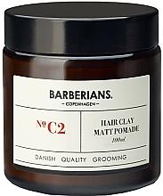 Parfumuri și produse cosmetice Pomadă de argilă pentru păr - Barberians. №C2 Hair Clay Matt Pomade