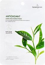 Parfumuri și produse cosmetice Mască cu extract de ceai verde - Beauugreen Antioxidant Green Tea Essence Mask