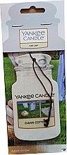 Parfumuri și produse cosmetice Aromatizator auto - Yankee Candle Car Jar Clean Cotton