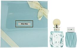 Parfumuri și produse cosmetice Miu Miu L'Eau Bleue - Set (edp/100ml + b/lot/100ml)