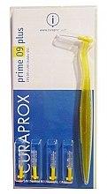 """Parfumuri și produse cosmetice Set perie interdentară """"Prime 09 plus"""", cu suport galben - Curaprox"""