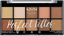 Parfumuri și produse cosmetice Paleta fard de ochi - NYX Professional Makeup Perfect Filter Shadow Palette