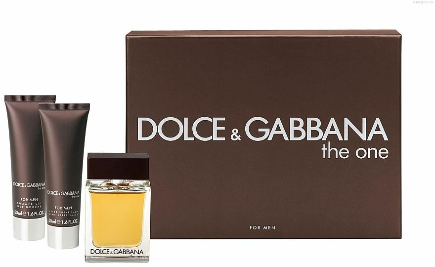 Dolce & Gabbana The One for Men - Set (edt 100ml + a/sh balm 50ml + sh/gel 50ml) — Imagine N1