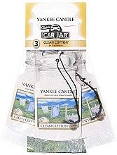 Parfumuri și produse cosmetice Set de dezodorizante auto - Yankee Candle Car Jar Clean Cotton
