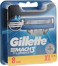 Parfumuri și produse cosmetice Casete de rezervă pentru aparat de ras, 8 buc. - Gillette Mach3 Turbo