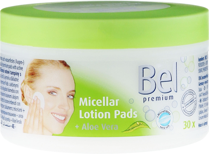 Discuri din bumbac cu extract de aloe vera - Bel Premium Lotion Pads with Aloe Vera — Imagine N1