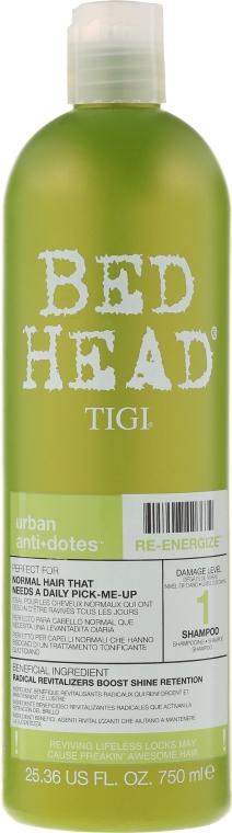 Șampon pentru păr normal - Tigi Bed Head Urban Antidotes Re-energize Shampoo — Imagine N3