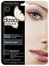 """Parfumuri și produse cosmetice Mască botanică pentru față, gât și pleoape """"Caviar negru"""" - Dizao Natural"""