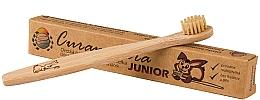 Parfumuri și produse cosmetice Periuță de dinți din bambus, pentru copii, moale - Curanatura Bamboo Junior
