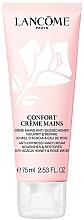 Parfumuri și produse cosmetice Cremă hidratantă și regeneratoare cu extract de miere de salcâm și apă de trandafiri pentru mâini - Lancome Confort