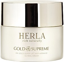 Parfumuri și produse cosmetice Cremă de față - Herla Gold Supreme 24K Gold Super Lift Anti-Wrinkle Global Cream
