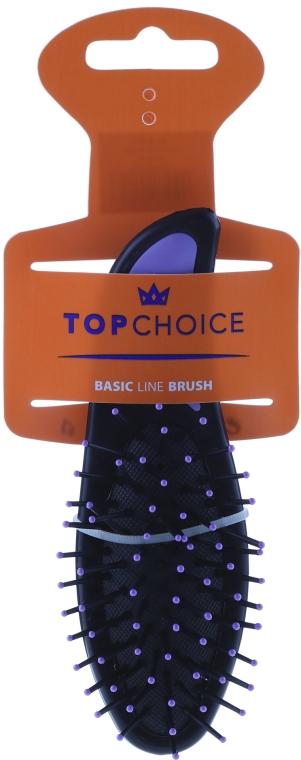 Perie de păr, 2007, negru + violet - Top Choice — Imagine N1