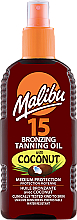 Parfumuri și produse cosmetice Ulei de corp, cu efect de bronz - Malibu Bronzing Tanning Oil With Coconut SPF 15