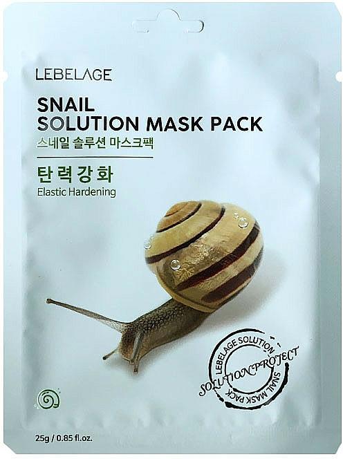 Mască din țesătură pentru față - Lebelage Snail Solution Mask