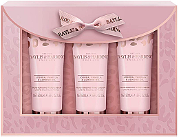 Parfumuri și produse cosmetice Set - Baylis & Harding Jojoba, Vanilla & Almond Oil Hand Cream Set (h/cr/50mlx3)