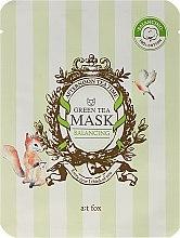 """Parfumuri și produse cosmetice Mască facială pentru menținerea echilibruli hidrolipidic al pielii """"Green Tea"""" - A:t fox Balancing Green Tea Mask"""