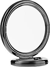 Parfumuri și produse cosmetice Oglindă dublă pe suport, 15 cm, neagră - Donegal Mirror