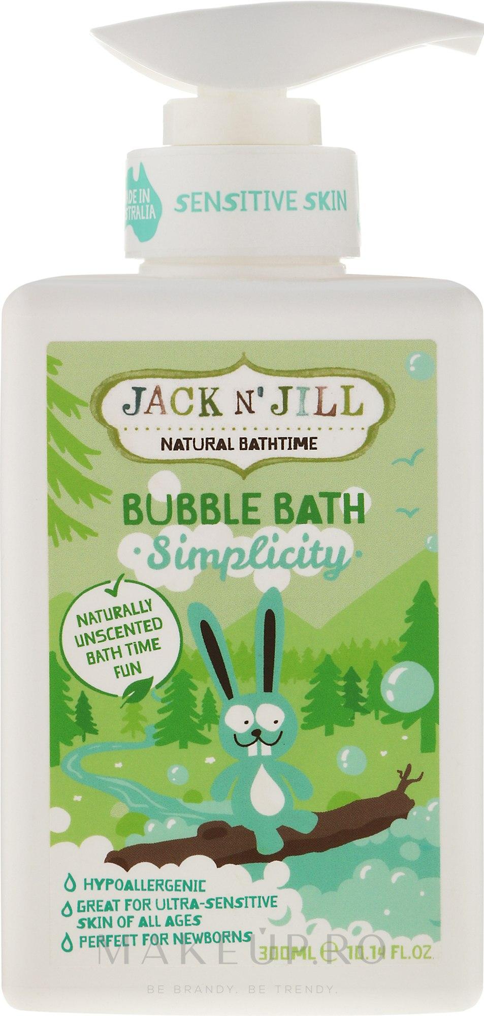 """Spumă de baie pentru copii """"Hidratare"""" - Jack N' Jill Bubble Bath Simplicity — Imagine 300 ml"""