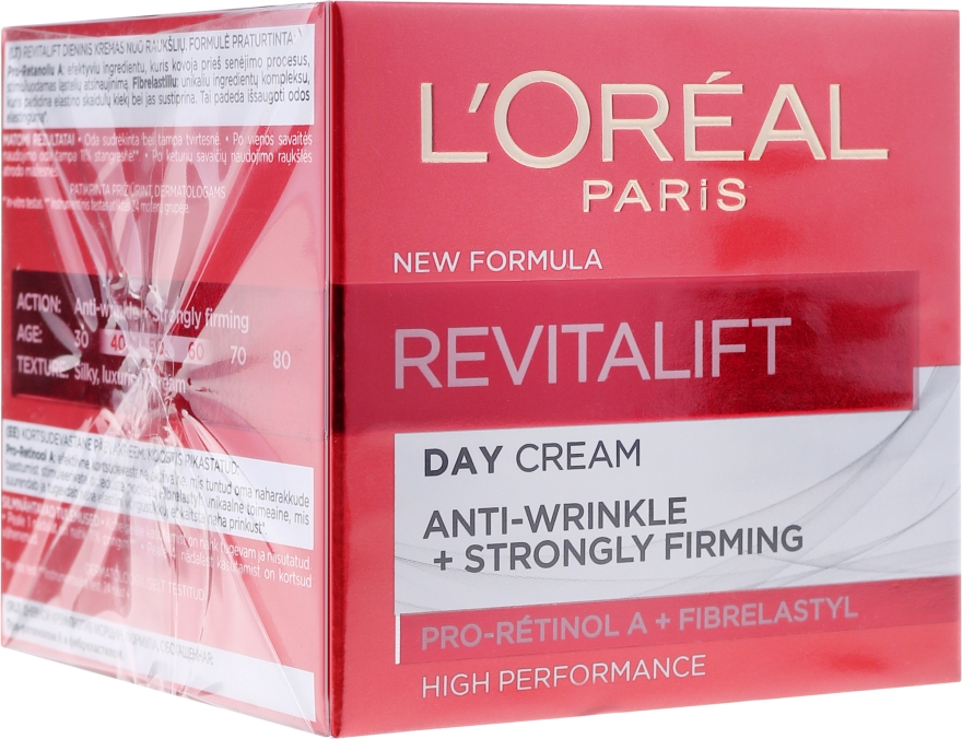 Cremă antirid de zi cu elastină - L'Oreal Paris Revitalift Anti-Wrinkle + Strongly Firming Day Cream