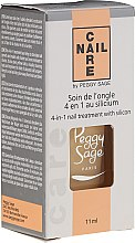 Parfumuri și produse cosmetice Tratament pentru îngrijirea unghiilor 4 în 1 cu siliciu - Peggy Sage 4-in-1 Nail Treatment With Silicon
