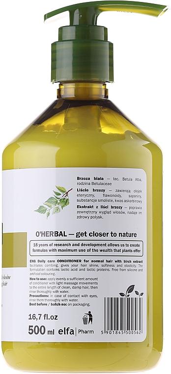 Balsam de păr cu extract de mesteacăn - O'Herbal — Imagine N4