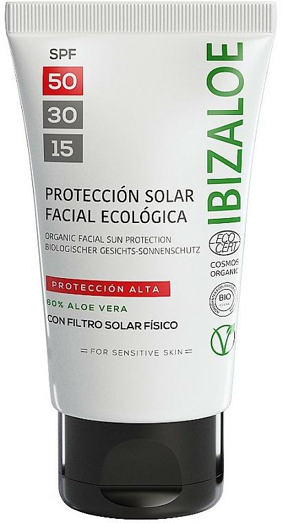 Cremă de protecție solară - Ibizaloe Organic Sun Protection SPF 50 — Imagine N1