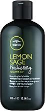 Șampon pe bază de extract de arbore de ceai, lămâie și salvie - Paul Mitchell Tea Tree Lemon Sage Thickening Shampoo — Imagine N1