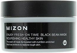 Mască pentru înlăturarea ridurilor, cu extract de fasole neagră - Mizon Enjoy Fresh On-Time Black Bean Mask — Imagine N2