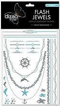 "Parfumuri și produse cosmetice Flash tattoo ""Sea"" - Dizao Flash Jewels"
