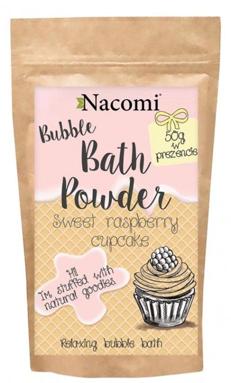 """Pudră pentru baie """"Cupcake dulce de zmeură"""" - Nacomi Sweet Raspberry Cupcake Bath Powder"""