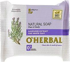 Parfumuri și produse cosmetice Săpun natural cu extract de lavandă și argilă albă - O'Herbal Natural Soap