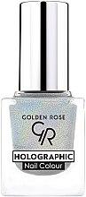 Parfumuri și produse cosmetice Lac de unghii - Golden Rose Holographic Nail Colour