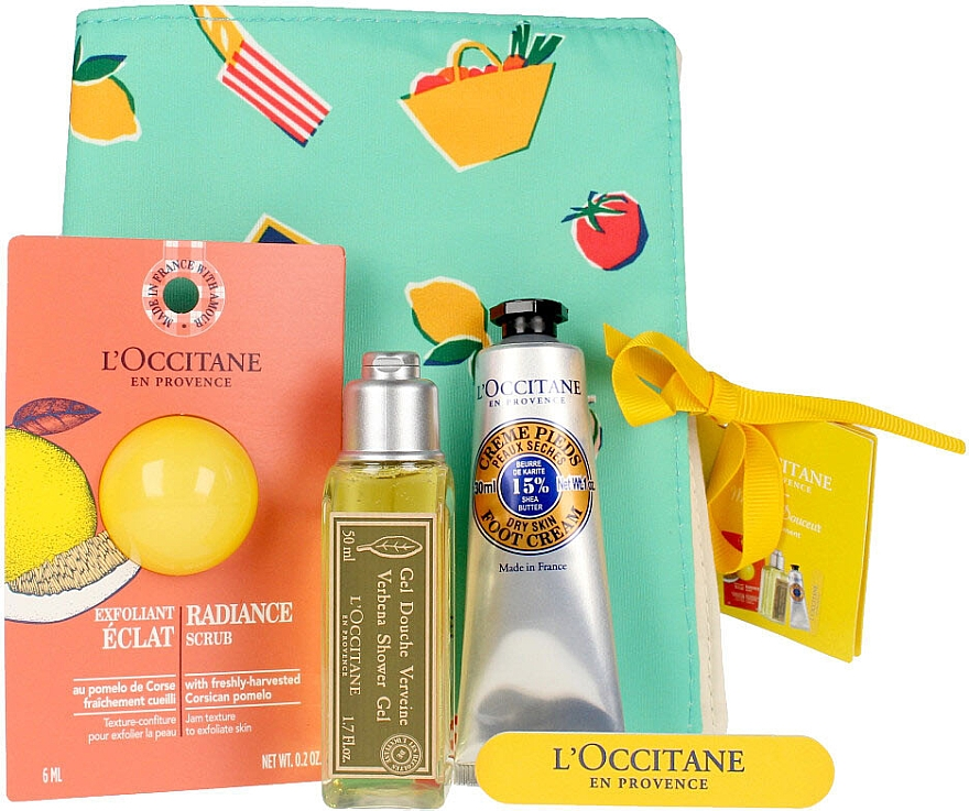 Set - L'Occitane Verbena (sh/gel/75ml + scrub/6ml + foot/cr/30ml + nail/file) — Imagine N2