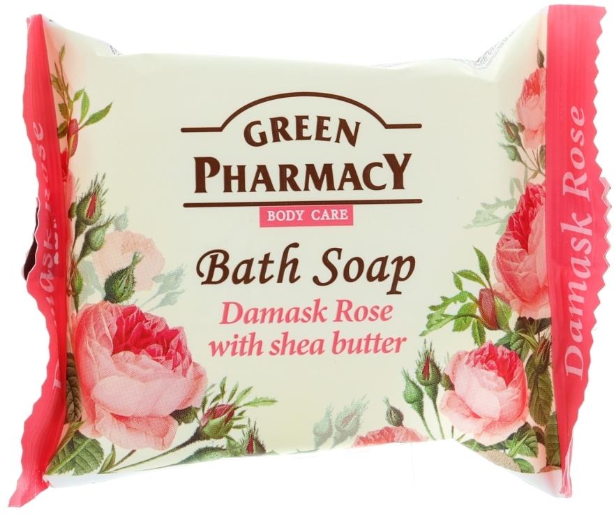 "Săpun ""Damask Rose cu unt de shea"" - Green Pharmacy"