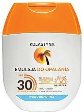 Parfumuri și produse cosmetice Emulsie pentru bronz - Kolastyna Emulsion Waterproof SPF 30 (mini)