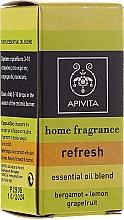 """Parfumuri și produse cosmetice Compoziție de uleiuri esențiale """"Prospețime"""" - Apivita Aromatherapy Essential Oil Refresh"""