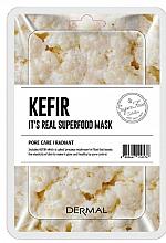 Parfumuri și produse cosmetice Mască facială pe bază de chefir - Dermal It'S Real Superfood Mask Kefir