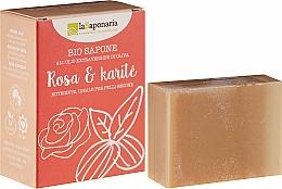 Parfumuri și produse cosmetice Săpun cu unt de shea și uleiuri de trandafir - La Saponaria Rose & Shea Butter Soap