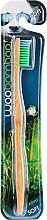 Parfumuri și produse cosmetice Periuță de dinți, duritate medie, verde - Woobamboo Adult Standard Handle Toothbrush Soft