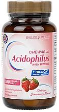 "Parfumuri și produse cosmetice Supliment alimentar ""Probiotice"" - Holland & Barrett Mega Acidophilus with Bifidus Chewable Strawberry"