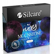 Parfumuri și produse cosmetice Set - Silcare Flexy Moonstone Hybrid Gel Set (nail/polish/4x4.5g)