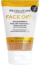 Parfumuri și produse cosmetice Mască-peeling pentru față - Revolution Skincare Face Off! Gold Glitter Face Off Mask