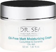 Cremă hidratantă cu extract de castraveți și dunaliella pentru față - Dr. Sea Oil-Free Matt Moisturizing Cream — Imagine N2