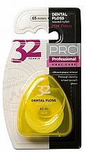 """Parfumuri și produse cosmetice Ață dentară """"32 Pearls PRO"""", carcasă galbenă - Modum 32 Pearls Dental Floss"""