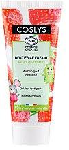 Parfumuri și produse cosmetice Pastă de dinți, cu aromă de căpșună pentru copii - Coslys Junior Toothpaste